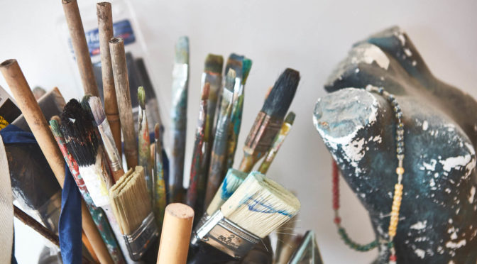 Kathy Luxford Carr's studio